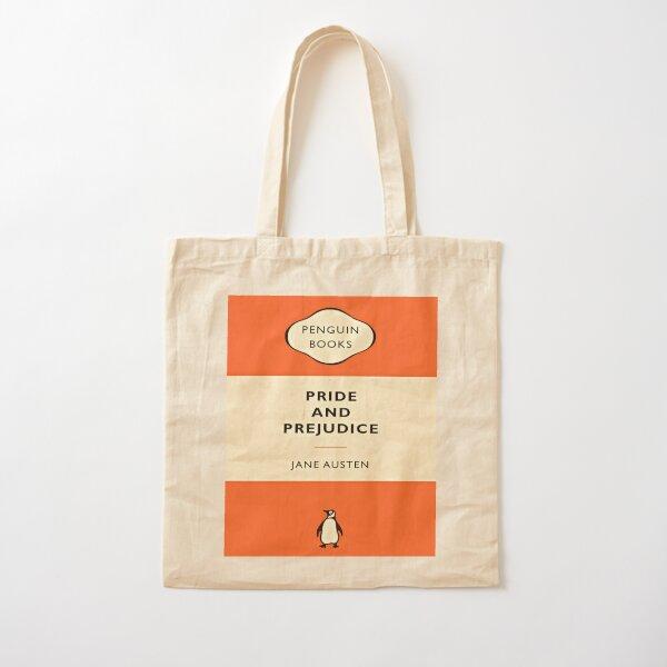 Orgullo y prejuicio Penguin Book Artwork Bolsa de algodón