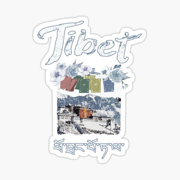 Tibet Potala Fortress Tibetan Script  Sticker