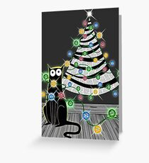 Paper Christmas Tree Greeting Card