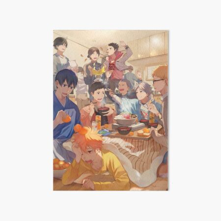 Karasuno Team Art Board Print