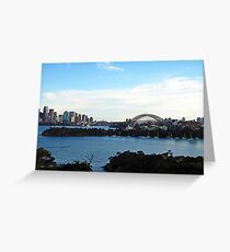 evening - sydney harbour Greeting Card