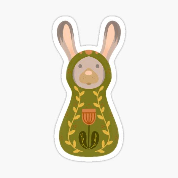 Woodland Adventure Doll Green Rabbit Sticker Sticker