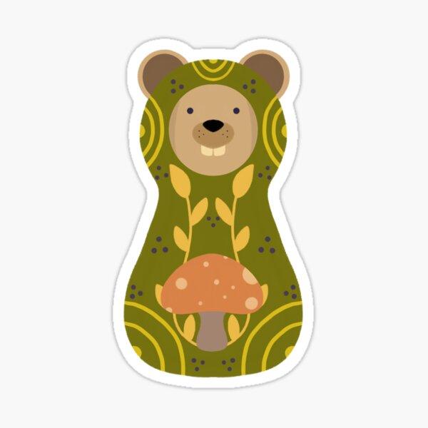 Woodland Beaver Sticker Sticker