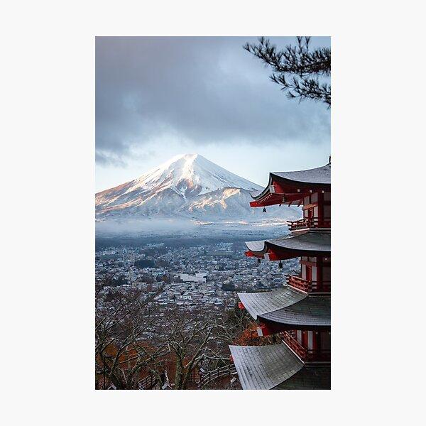 mountains landscape of Mount Fuji fujiyama (Fujiyama volcano) in Japan Photographic Print