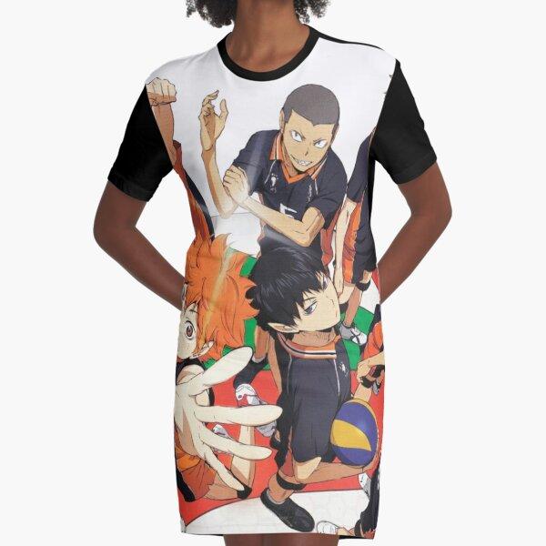 Karasuno Team Graphic T-Shirt Dress