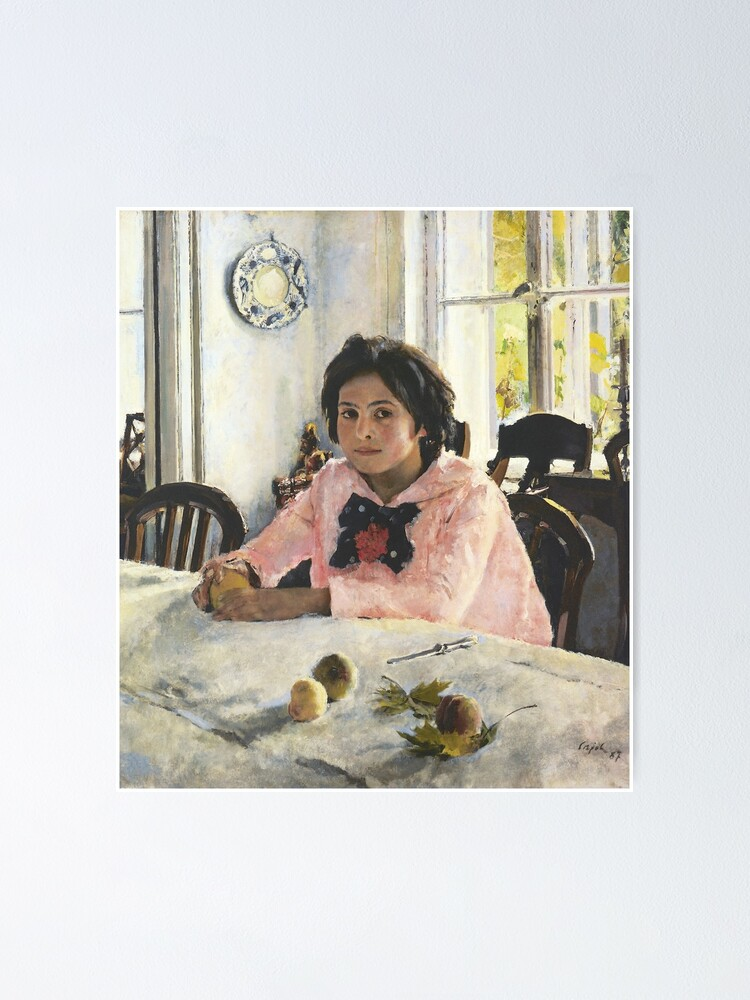 Alternate view of Girl with Peaches, 1887, Valentin Alexandrovich Serov was a Russian painter, and one of the premier portrait artists of his era Poster