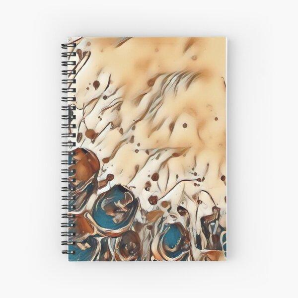 Poppy Garden 2 designed & created by (c) Janet Watson Art   Spiral Notebook