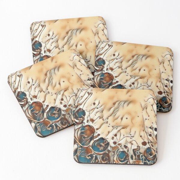 Poppy Garden 2 designed & created by (c) Janet Watson Art   Coasters (Set of 4)