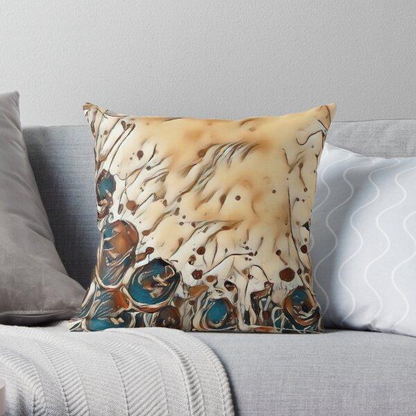 Poppy Garden 2 designed & created by (c) Janet Watson Art   Throw Pillow