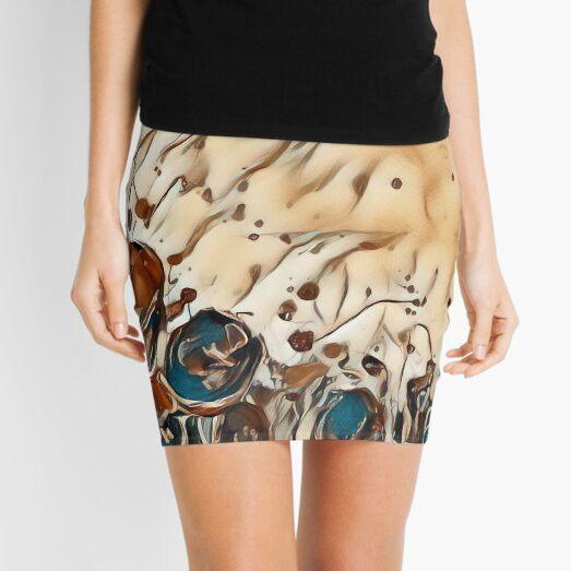 Poppy Garden 2 designed & created by (c) Janet Watson Art   Mini Skirt