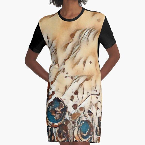 Poppy Garden 2 designed & created by (c) Janet Watson Art   Graphic T-Shirt Dress