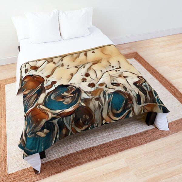 Poppy Garden 2 designed & created by (c) Janet Watson Art   Comforter