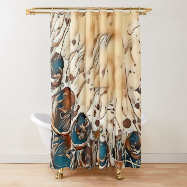 Poppy Garden 2 designed & created by (c) Janet Watson Art   Shower Curtain