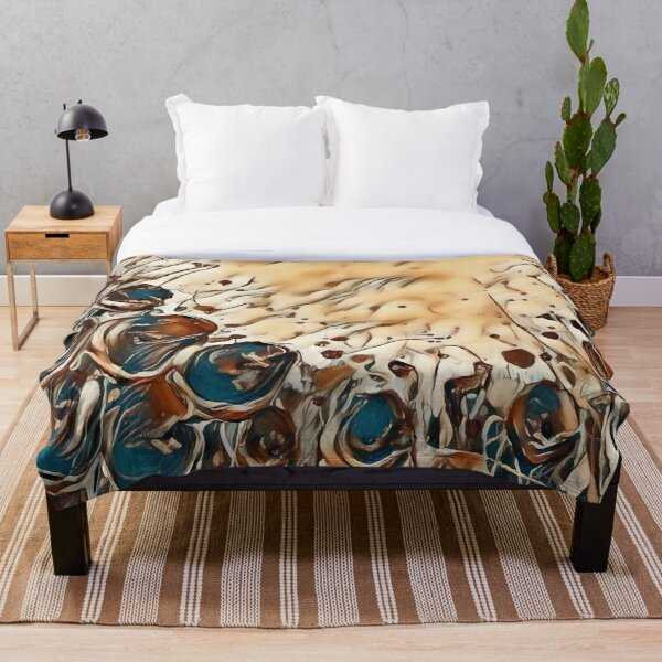 Poppy Garden 2 designed & created by (c) Janet Watson Art   Throw Blanket