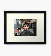 Lad at changing of the guard Buckingham Palace  19570830 0007 Framed Print