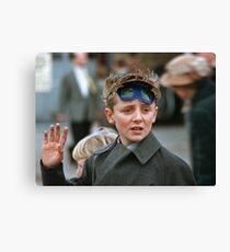 Lad at changing of the guard Buckingham Palace  19570830 0007 Canvas Print