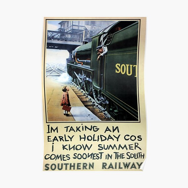 Braunton /& District  Vintage Travel  advertising poster reproduction.