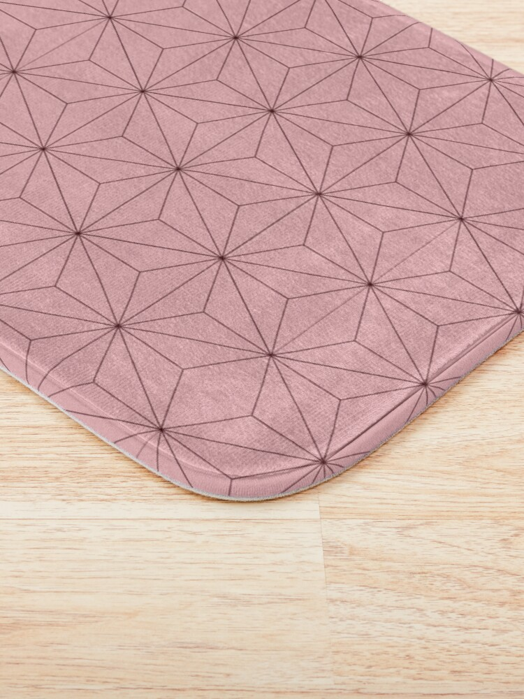 Alternate view of Nezuko Pattern Bath Mat