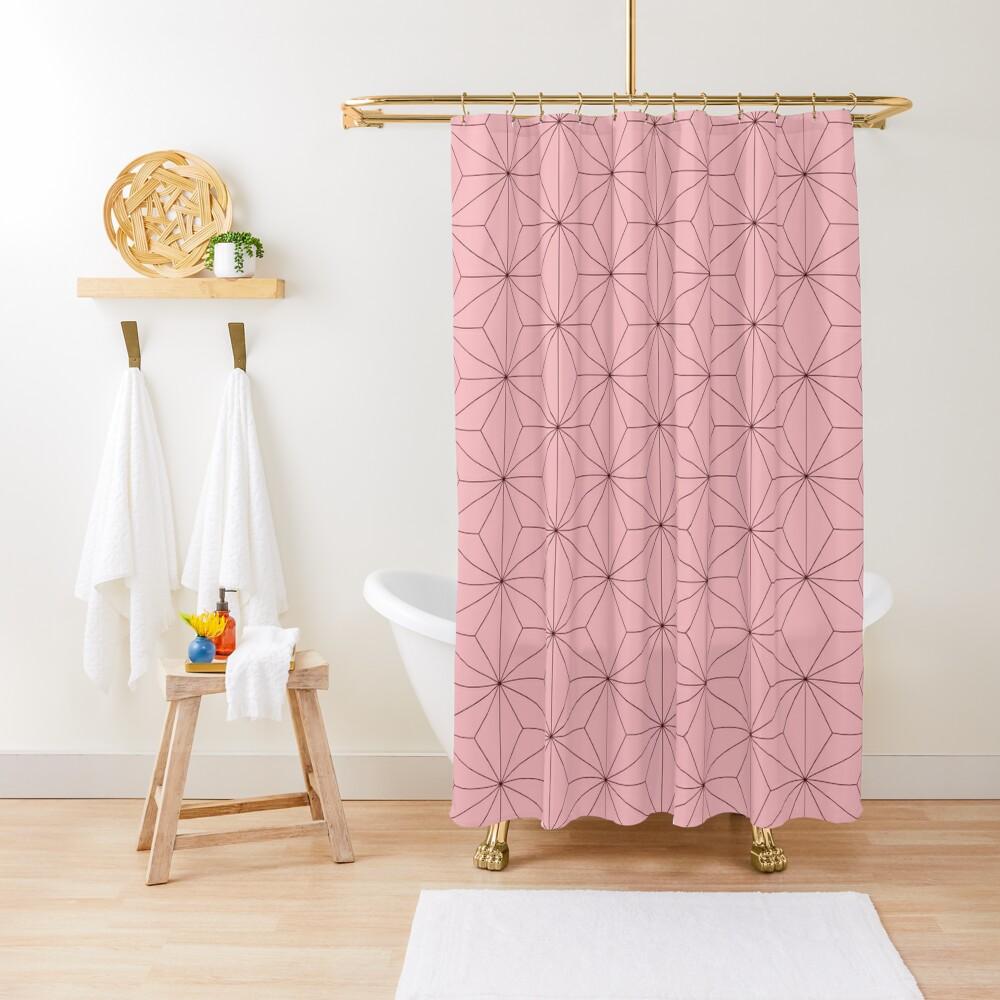 Nezuko Pattern Shower Curtain