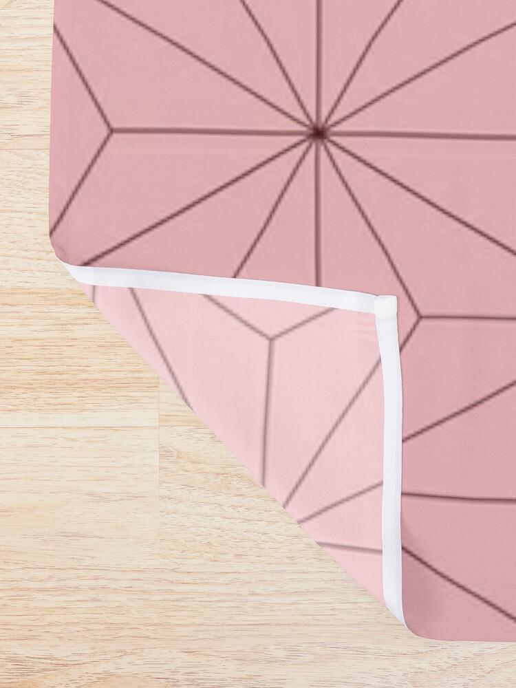 Alternate view of Nezuko Pattern Shower Curtain
