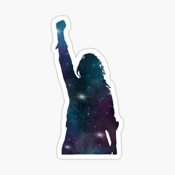 Galaxy Girl Feminist Resistance Leader Sticker