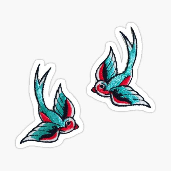 Swallow Patch Sticker
