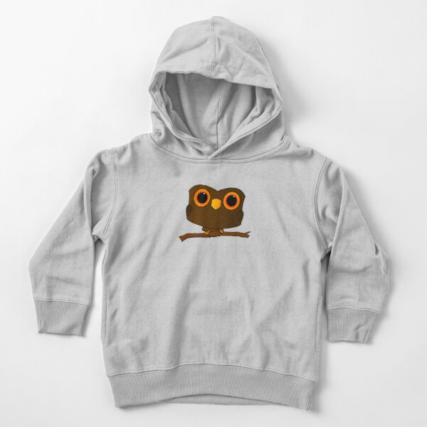 Owl on Stick Toddler Pullover Hoodie