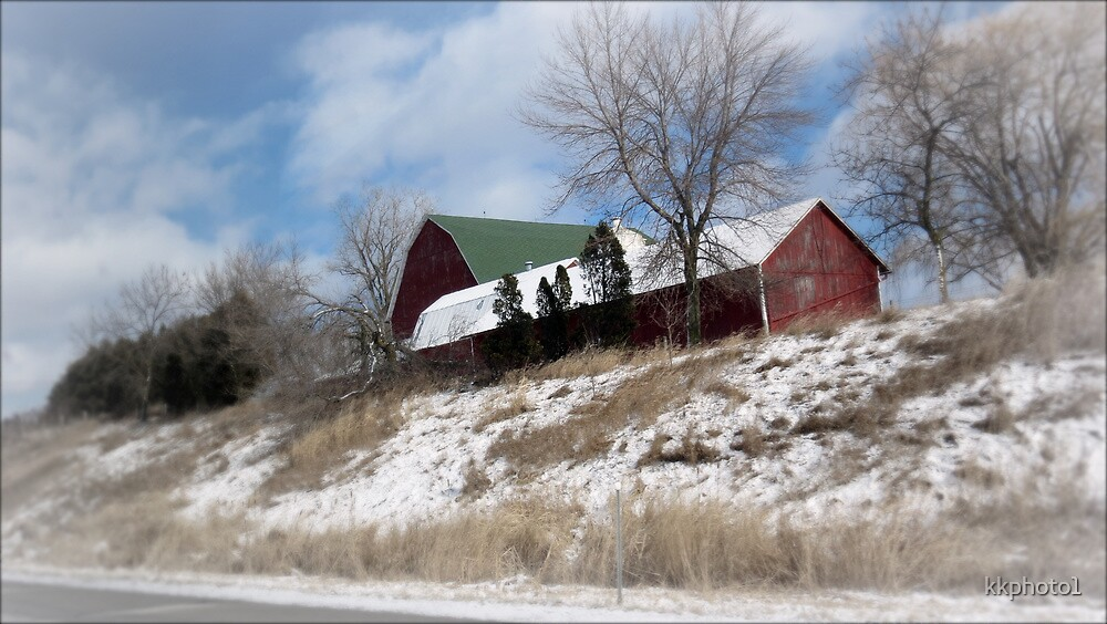 """Hillside Farm In Winter"" by kkphoto1"