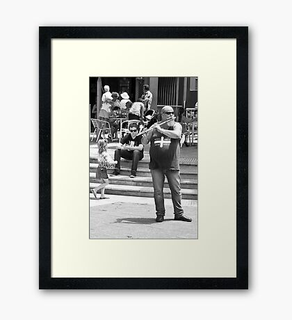 WHY? What did you expect? Framed Print