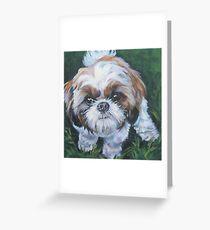 Shih Tzu Fine Art Painting Greeting Card