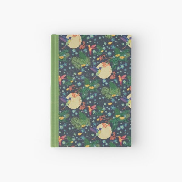 Hummingbird Garden Dark Hardcover Journal