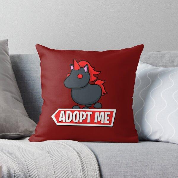 Adopt Me Evil Unicorn Throw Pillow