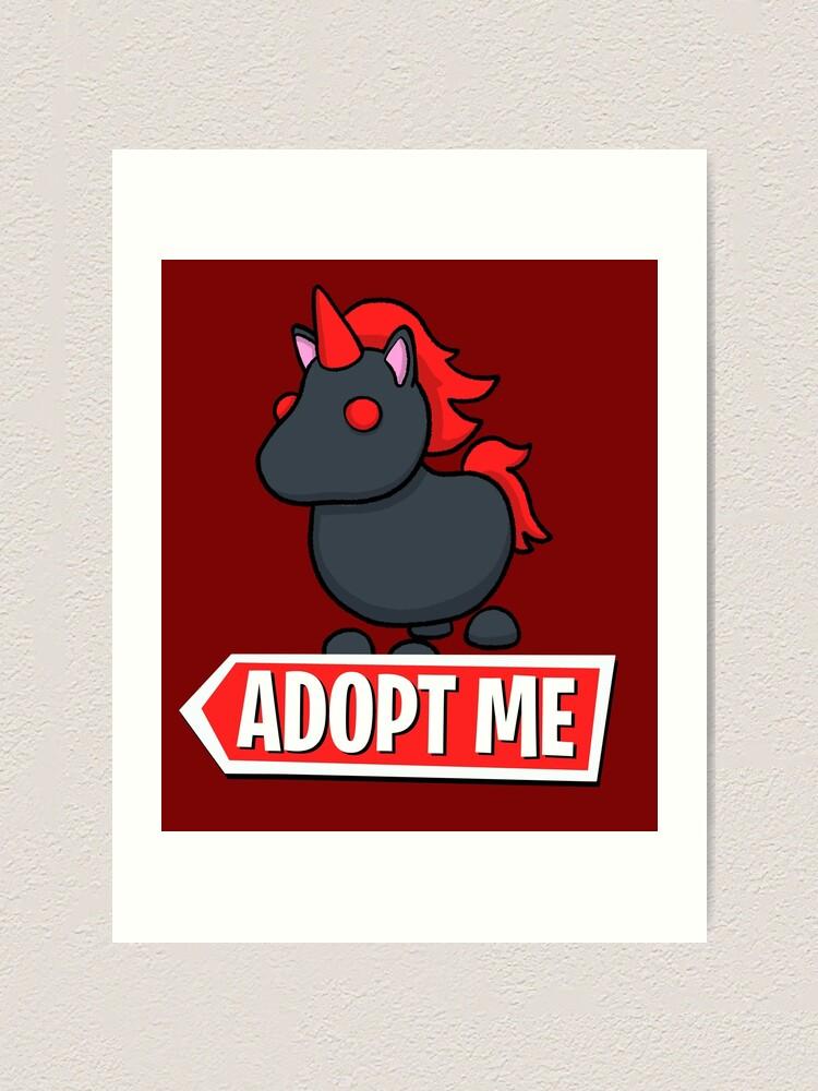 Adopt Me Evil Unicorn Art Print By Pickledjo Redbubble