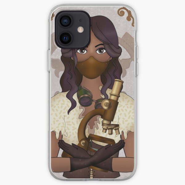 Microbiologist with Mask (SteamPunk Art) iPhone Soft Case