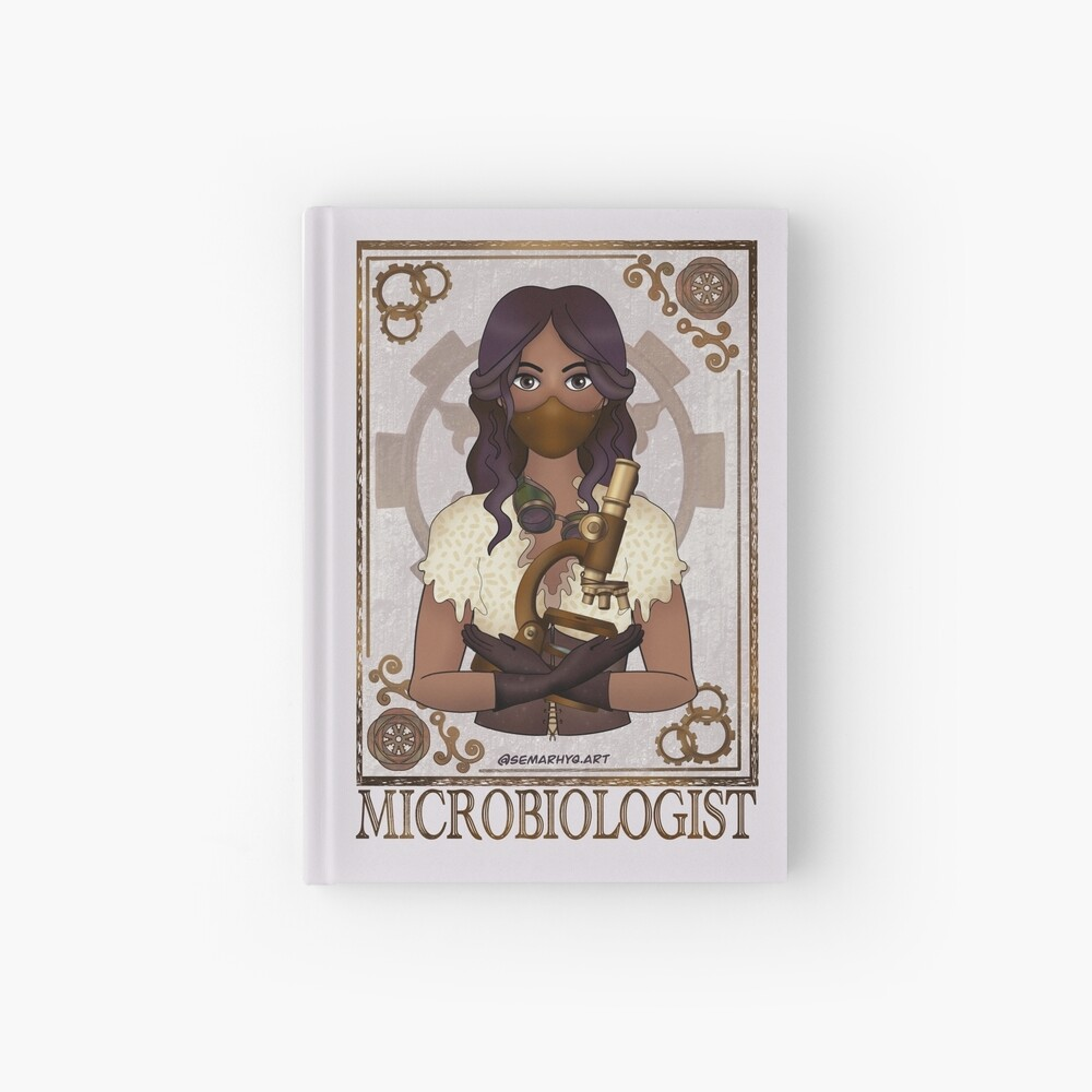 Microbiologist with Mask (SteamPunk Art) Hardcover Journal