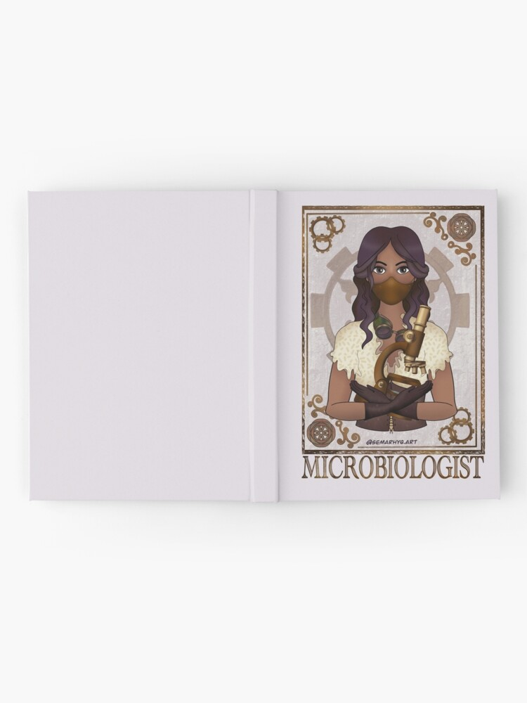 Alternate view of Microbiologist with Mask (SteamPunk Art) Hardcover Journal