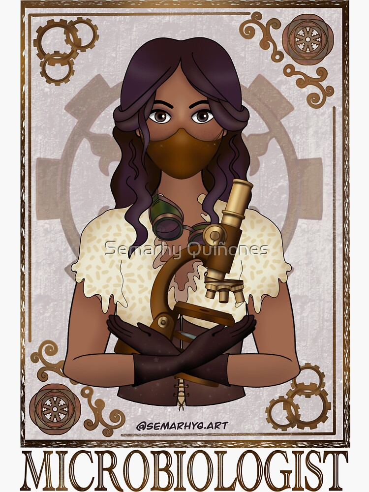 Microbiologist with Mask (SteamPunk Art) by semarhy