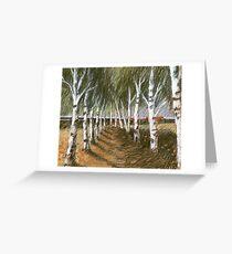 Birken-Raum Greeting Card