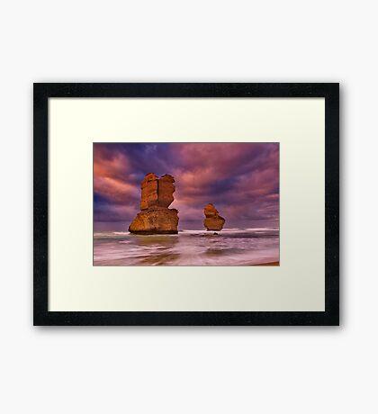 """Steadfast Amid The Storm"" Framed Print"