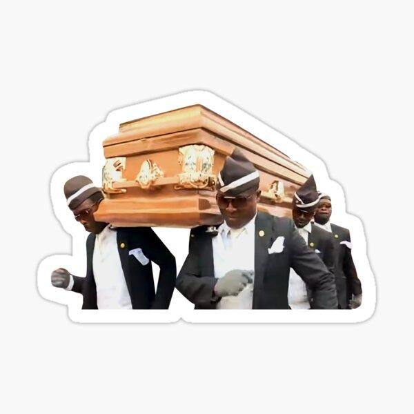 Coffin Dance Dancing Pallbearers Meme Sticker