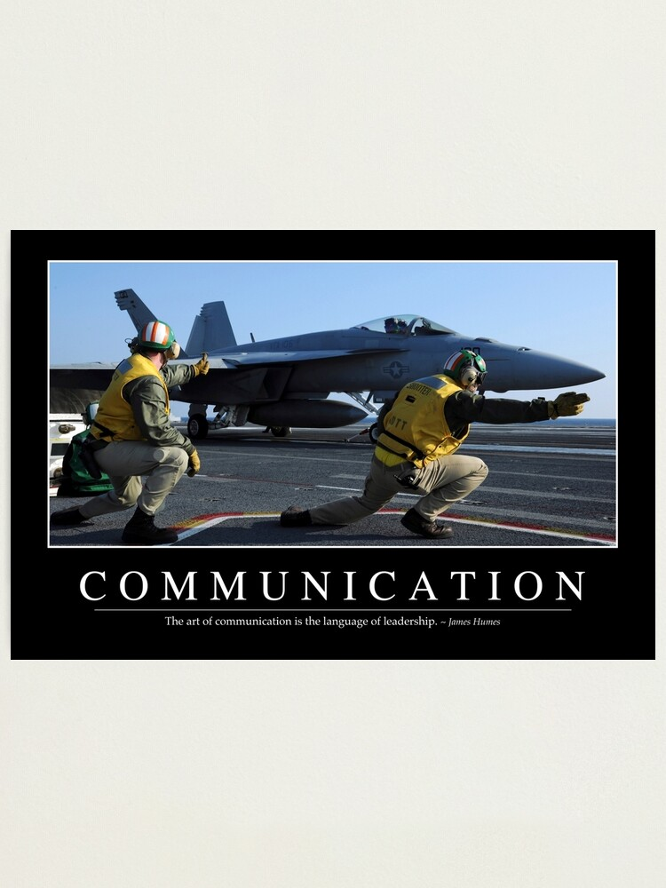 Alternate view of Communication: Inspirational Quote and Motivational Poster Photographic Print