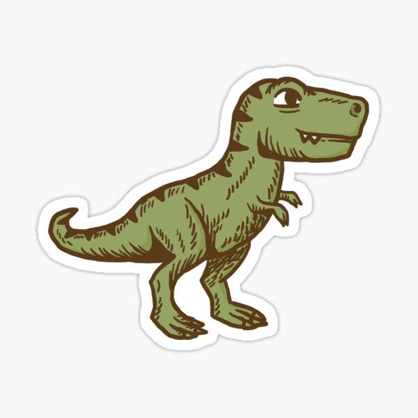 Cute Little Vintage T-Rex Sticker