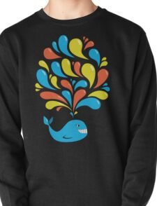 Colorful Swirls and Happy Cartoon Whale T-Shirt