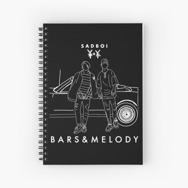 Bars and Melod- Sadboi Spiral Notebook Spiral Notebook