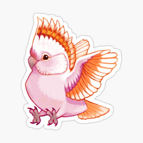 Pride Birds: Major Mitchell's Cockatoo Sticker