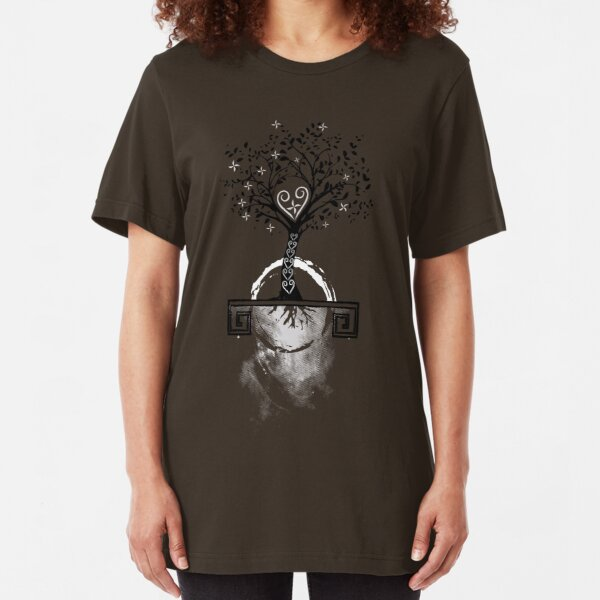 Hmong Tree of Life Slim Fit T-Shirt