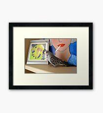 Mucki loves Buschi Framed Print