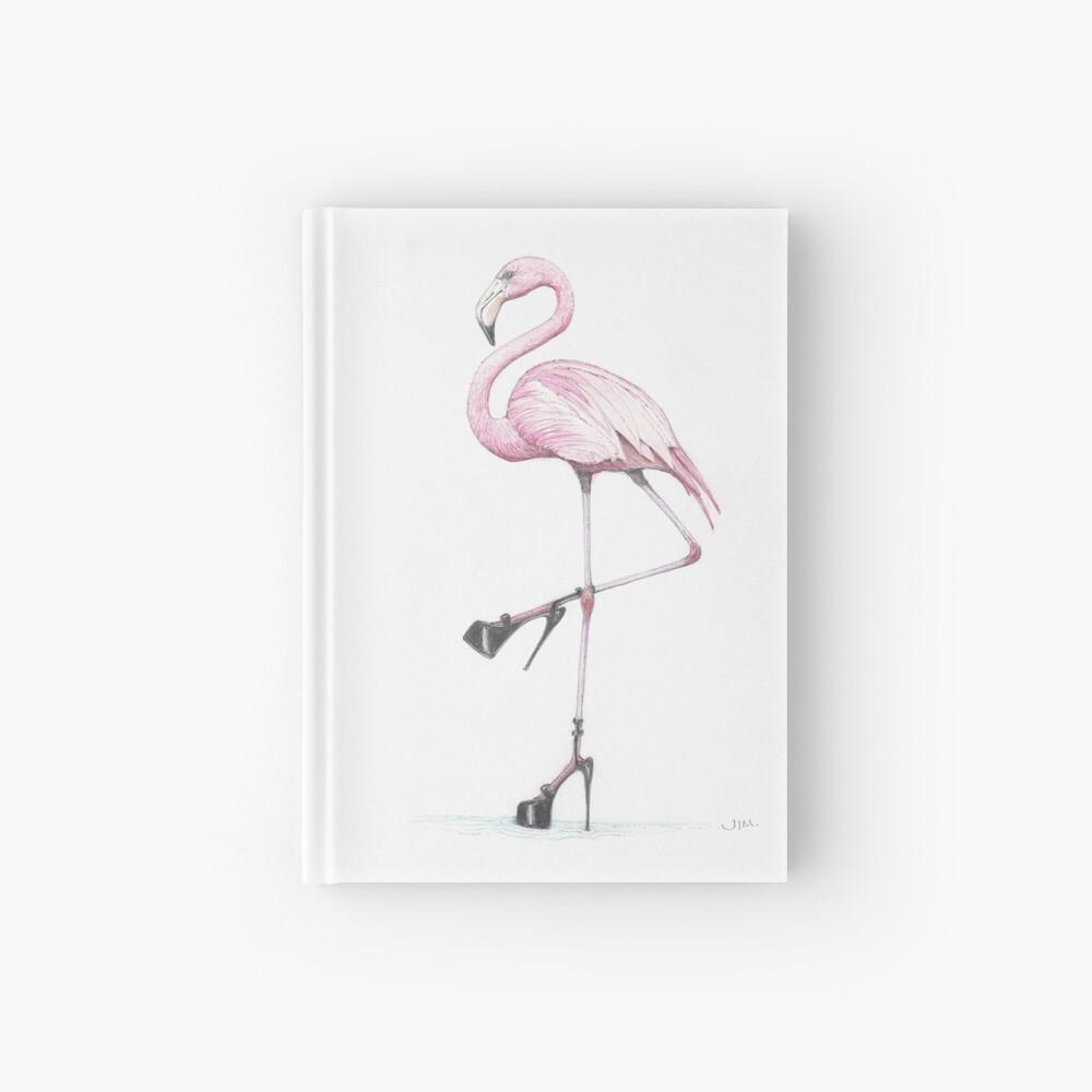 flamingo in stilettos Hardcover Journal