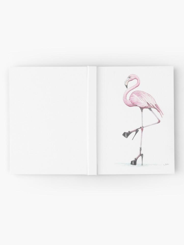 Alternate view of flamingo in stilettos Hardcover Journal