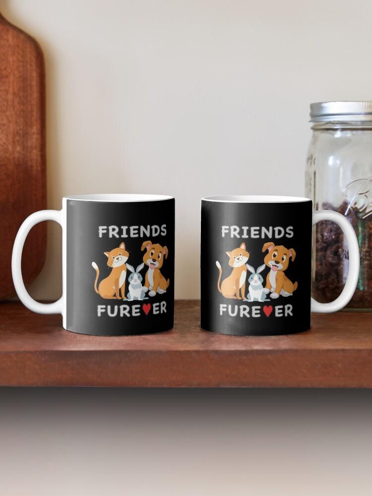 Alternate view of Friends Forever BFF Dog Cat Bunny Rabbit Kids Gift. Mug